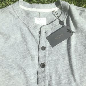 Rag & Bone reworked button up t-shirt